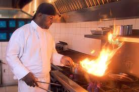Michael Hinds on stove